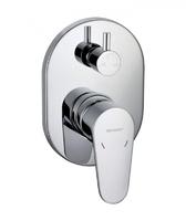 Смеситель встраиваемый для ванны или душевой Eler, 3 потребителя (внутренняя и наружная часть)