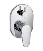 Смеситель встраиваемый для ванны Eler, 2 потребителя (внутренняя и наружная часть)