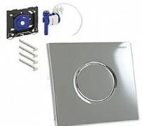 Система управления смывом для писсуаров Geberit Sigma01, пневматическая, клавиша глянцевый хром