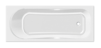 Ванна акриловая прямоугольная Тенерифе 160х70, белая, без ножек