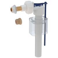 Впускной клапан для бачка унитаза Impuls Basic тип 330, подвод сбоку, 3/8 и 1/2, ниппель латунный