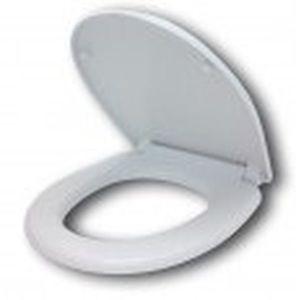 Сиденье для унитаза с микролифтом и крышкой, полипропилен, система плавного закрывания Soft Close, цвет белый фото