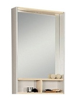 Зеркало-шкаф Йорк 55 белый/ясень фабрик