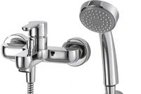 Смеситель для ванны Stream однорычажный с коротким изливом, с душем, хром