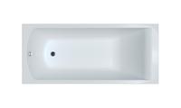 Ванна акриловая прямоугольная Фиджи 170х75, белая, без ножек
