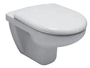 Унитаз подвесной Olymp (53х36), белый в комплекте с крышкой c пластиковыми крепежами фото