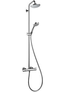 Душевая система с тропическим душем Croma 100 Showerpipe, с термостатом без излива фото