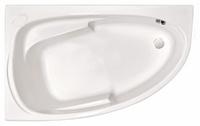 Ванна акриловая угловая асимметричная Joanna 160x95, левая, белая, без ножек