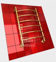 Полотенцесушитель водяной в форме лестницы Модель R 80/50 6 полок, нижнее подключение, цвет золотой хром, К1 (без углов)