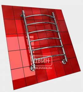 Полотенцесушитель водяной в форме лестницы Модель R 80/50 6 полок, нижнее подключение, цвет хром, К1 (без углов) фото