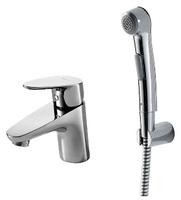 Смеситель для умывальника Drop 135 мм. с гигиеническим душем однорычажный без донного клапана
