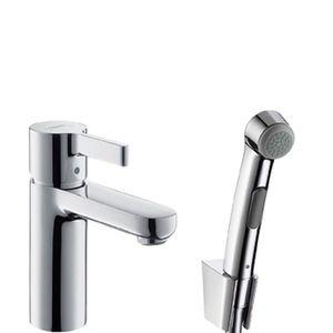 Смеситель для умывальника с гигиеническим душем Metris S фото