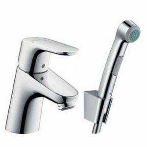 Смеситель для умывальника с гигиеническим душем Focus Е2 фото