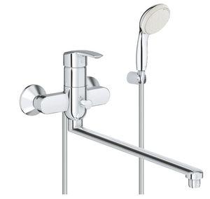 Смеситель для ванны с длинным изливом Multiform, лейка Tempesta 100 (2 режима) фото