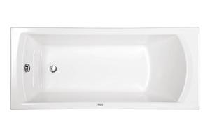 Ванна акриловая прямоугольная Монако 160х70, белая, без ножек фото