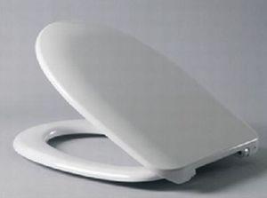 Сиденье для унитаза с крышкой, дюропласт Нордика 351х392,5-419,5, стальное крепление, белое фото