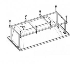Каркас для акриловой ванны Sureste 150x70, ручки, сифон автомат фото