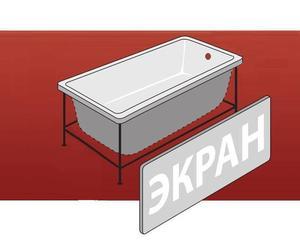 Фронтальная панель для ванны Вики фото