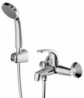 Смеситель для ванны Fit с коротким изливом и душевой лейкой