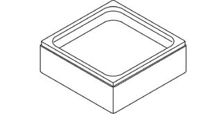 Боковая панель для поддона акрилового квадратного Optima 90х90х26,5 см фото