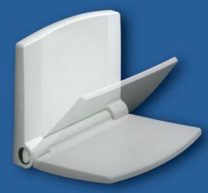 Сиденье на стену для душевого ограждения и ванны складное c микролифтом, белый дюропласт фото