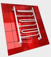 Полотенцесушитель водяной в форме лестницы Модель W 80/50 3 полки, нижнее подключение, цвет белый, К1 (без углов)