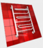 Полотенцесушитель водяной в форме лестницы Модель W 80/50 3 полки, нижнее подключение, цвет белый, К1 (без углов) фото