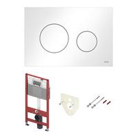 Инсталляция для подвесного унитаза TECEbase c кнопкой TECEloop белый глянец, звукоизоляция