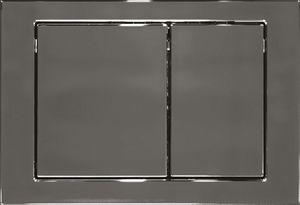 """Кнопка для инсталляции """"Link"""" M05 K97-087 хром глянцевая прямоугольная, двойной смыв фото"""