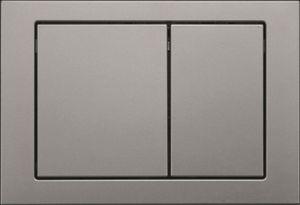 Кнопка для инсталляций W371167 и W371267 прямоугольная, хром фото
