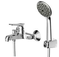 Смеситель для ванны Eco с коротким изливом и душевой лейкой