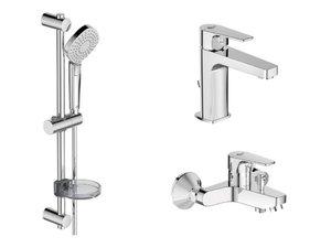 Набор смесителей ESLA 3 в 1 (смесители для раковины, ванны и душевой гарнитур) фото