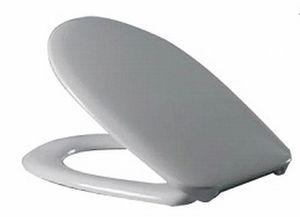 Сиденье для унитаза с крышкой, дюропласт Коста 371х426,5-447,5, стальное крепление, белое фото