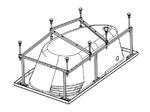 Каркас для акриловой ванны Гоа 150х100, с сифоном