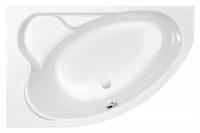 Ванна акриловая угловая асимметричная Kaliope 153x100, левая, белая, без ножек