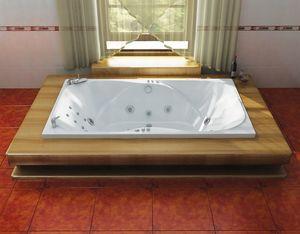 Ванна акриловая гидромассажная прямоугольная Атлант 2050х1200х710 (ванна, каркас, гидромассаж, слив-перелив автомат) фото