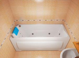 Ванна акриловая гидромассажная прямоугольная Берта 1700х700х680 (ванна, каркас, гидромассаж, слив-перелив автомат) фото