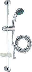 Душевая стойка Basic 1 (лейка 90 мм, экономия воды, 2 функция , шланг металл 1750 мм, штанга 600, мыльница), хром фото