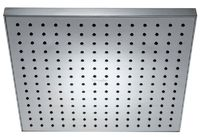 Лейка тропического душа квадратная Eo, 280х280 мм, 196 форсунок, G1/2, пластик, хром