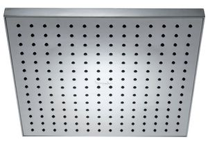 Лейка тропического душа квадратная Eo, 280х280 мм, 196 форсунок, G1/2, пластик, хром фото