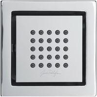 Мини форсунка душа боковая квадратная Watertile, 25 выпускных отверстий, хром