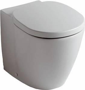 Унитаз напольный приставной Коннект в комплекте с крышкой, горизонтальный выпуск фото