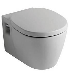 Унитаз подвесной Коннект в комплекте с крышкой и сиденьем, белый фото