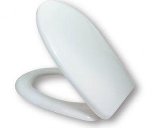 Сиденье для унитаза с микролифтом и крышкой, дюропласт, система плавного закрывания Soft Close, система Easy Fix, цвет белый фото