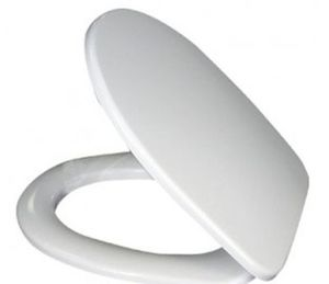 Сиденье для унитаза с крышкой 429х360, цвет белый фото