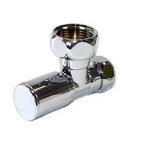 Кран для полотецесушителя хромированный угловой ВР-ВР 1х3/4 (LX-8201SCH1005), (цена за 1 шт.)