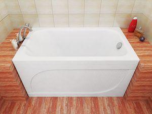 Ванна акриловая прямоугольная Лиза 1200х700х575 (ванна, каркас, слив-перелив автомат) фото