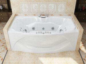 Ванна акриловая прямоугольная Оскар 1900х1100х650 (ванна, каркас, слив-перелив автомат) фото