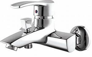 Смеситель для ванны или душа Смарт-Карат, короткий излив 164 мм, без аксессуаров, хром фото