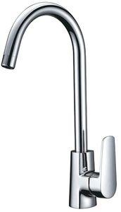Смеситель для кухни и кухонной мойки с высоким изливом Смарт-Инлайн, хром фото